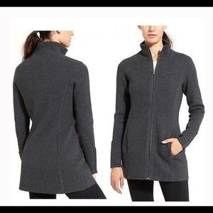 Athleta Charcoal Chill Chaser Wool Sweater/Coat XL